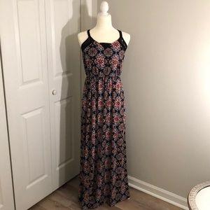Xhileration Floral Maxi Dress